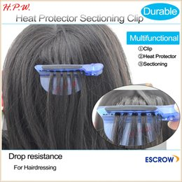 Wholesale Charlies Angel NEW IN hair salon heat protector shield Sectioning clip for Hairdressers Salon Hair Crocodile clip Blue