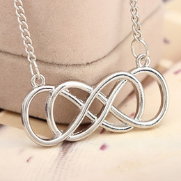 Wholesale Revenge Emily Thorne Tone Eternity Simplicity Forever Love Double Infinity Necklace Double Infinity Symbol Necklace Personalized