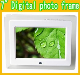 Wholesale 7 quot Inch HD LED Digital Photo Frame Acrylic Multimedia Digital Picture Frames Multifunction MP3 MP4 Movie x480 Support SD Card MS USB