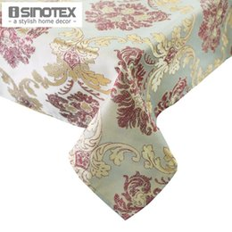 Wholesale Extra Large Table Cloth x180cm Rectangle Damask Handmade Embroidered Table Cover Tablecloth Glittering Gold Silver Threads