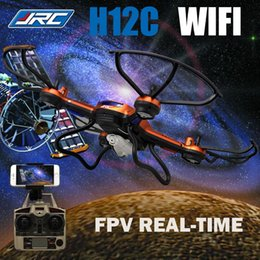 Wholesale SYNC IMAGE JJRC H12C WIFI Version FPV Drone G CH Headless Mode One Key Auto Return RC Quadcopter with HD Camera