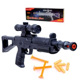 Wholesale Nerf Soft Air Gun Outdoor Toys Toy Gun With Night Light Collimater Gun For Boys Outdoor Sport Game Gift