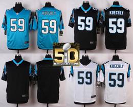 Wholesale Factory Outlet Carolina Pants Luke Kuechly Men Womens Kids Blank White Blue Black with Super Bowl Patch Jerseys