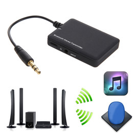 Wholesale Car Adapter For Tv - Mini Bluetooth 4.0 Audio Receiver 3.5mm EDR Music Transmitter A2DP Stereo Dongle Adapter for CAR TV iPod Mp3 Mp4 Speaker Tablet PC