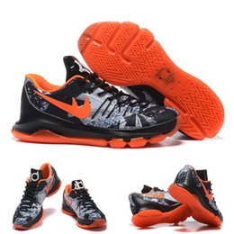 Wholesale With Shoes Box High Quality Kevin Durant KD VIII Lmtd LIimited Black Total Orange Opening Night Men s Basketball Sport Trainers Shoes