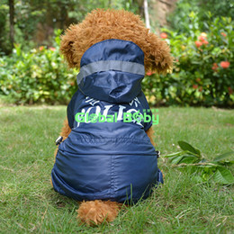 Wholesale Chinese English Police Printed Waterproof Clothes for Pets Dogs Cotton Pets Dogs Puppy Raincoat