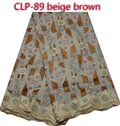 Free shipping On sale embroidered cotton lace fabric,Swiss voile lace fabric,African lace for women dress CLP-89