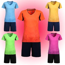 New women's football training suits, sportswear, sportswear, short sleeved women's football suits, you can process names and numbers and sig