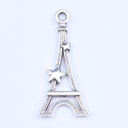 DIY Antique Silver   Copper Alloy Paris Eiffel Tower Charm Pendant Fit Bracelets Necklace Metal Jewelry Making 500pcs lot 5254w
