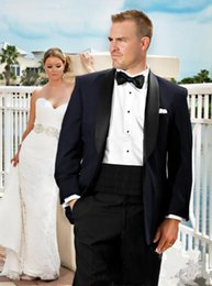 2015 Groom Tuxedos New Groom Tuxedos Shawl Collar Groomsman Best Men Suits grooms suits (Jacket+Pants+Tie+Girdle)142