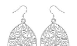 Graceful 925 Silver Elegant Ladies Leaf Earrings Dangle Beautiful Earrings 20pairs Hot