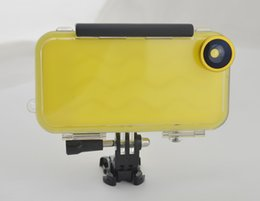 Wholesale New for iphone s Waterproof Outdoor Sports Multi Kits CASE cover Go Pro Cases For Apple iphone s wide angle fish eye micro lens