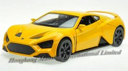 1:32 Alloy Diecast Car Model For Danish Roadster Zenvo ST1 Collection Pull Back Toys Car With Sound&Light -Yellow   White   Gray