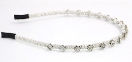 New Women Wedding Bridal Headband Rhinestone Silver Rope Twist High Quality Fashion Hair Accessories Handmade Hair Jewelry for Wholesale