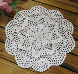 cotton lace hand made Crochet doilies cup mat Round Doily 36PCS LOT