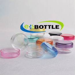 100pcs lot 3g Cosmetic Empty Jar Pot Eyeshadow Makeup Face Cream Lip Balm Container Bottle cosmetic bottle packaging