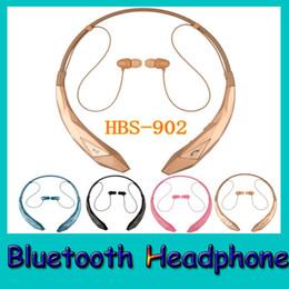 HBS 902 Bluetooth Headset Wireless Headphone Neckband Stereo Earphone for iPhone Samsung Bluetooth Headphones with Retail Box HBS902