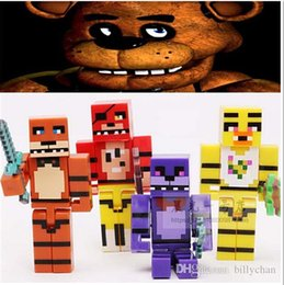 DHL free free five nights at freddy's figure toys 3D FNAF dolls Five Nights At Freddy's 4 FNAF figure dolls FNAF dolls kids D49 20lot