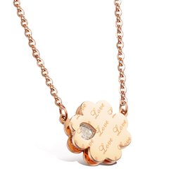 Lucky four-leaf flower of love Pendant Popular Titanium Steel Women Men Necklace Jewelry Classical Design Birthday Gift