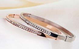 bracelets bangles for women setting crystal titanium stainless steel rose gold Bracelets & Bangles For Women bangles bracelets wholesales