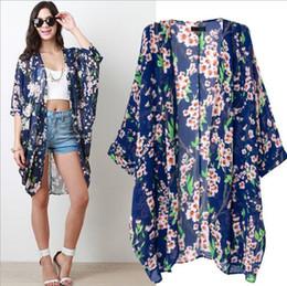 Племенные печатные издания Онлайн-Солнцезащитная Племенной печати Блузы Long Кимоно Кардиган Плюс Размер одежды для женщин шифон Рубашки Топы лето дешевой одежды Китай