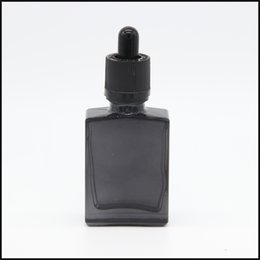 hottest selling childproof and tamperproof cap square transparent black 15ml 30ml glass dropper bottles manufacturers for eliquid