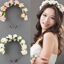 Wholesale-Brand New Hair accessories women flower crown festival headband romantic wedding accessories headbands floral garland hair bands