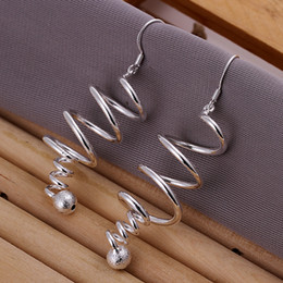 Fashion 925 Sterling Silver EARRINGS Spring with beads dangle earrings