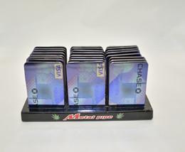 Wholesale credit card smoking pipe for Credit Card Pipe portable metal card herb grinder