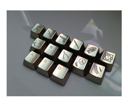 MKC CS 14 Keys Metal Silver Mechanical Gaming Keyboard Keycaps Mechanical Gaming Keyboard