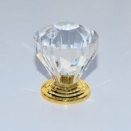 10pcs free shipping 32mm Zinc Alloy Clear Crystal Sparkle Glass Kitchen Cabinet Knobs Handles Dresser Cupboard Door Knob Pulls