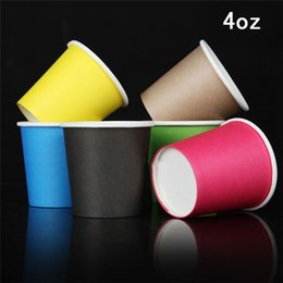 Free shipping 300pcs 4 oz disposable cups thick tasting concentrated color tasting cup coffee cup coffee mug 100ml paper cup