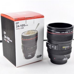 Wholesale Camera Lens Mug Funny Cool Coffee Beer Cup Travel Items Gear Stuff Accessories Supplies Products