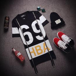 Wholesale 2016 HBA Printed Side Zipper T Shirts Men Women Short Sleeve Camisetas Punk Rock Hip Hop Tee Shirt Tops Harajuku BF Streetwear