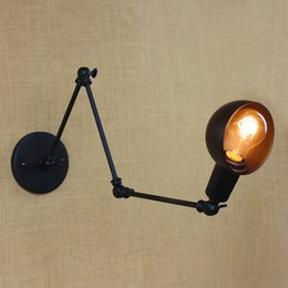 Wholesale 40W V Personality Long Arm Adjustable Angle Bar Three Retro Living Room Lamps Lighting Decorative Wall Sconce
