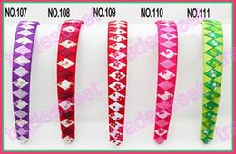 free freight 300pcs 3 4'' Ribbon Woven Headband braid headbands ribbon wraped headbands