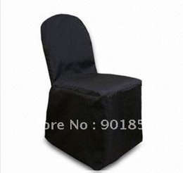 Wholesale Black Round top banquet POLY chair cover