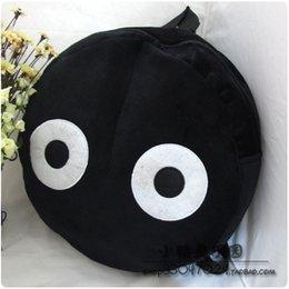 Wholesale cartoon plush backpack schoolbag Cute cartoon black coal dust balls elves