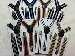 Wholesale 1 years kids Y back elastic stripes suspenders child braces