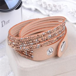 Wholesale New Hot Selling Fashion Bracelet Colors Charm Bracelets Bangles For Women Buttons Adjust Size Circle
