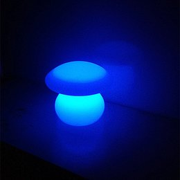 4 pieces lot rechargeable colorful waterproof LED Mushroom lamp of LED little Table lamp for home decoration lighting