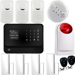 New Alarm Systems Security Home GSM+Wifi+GPRS, APP Controlled Alarm System & Home WiFi Alarm System G90B