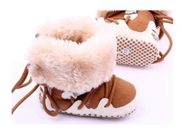 Wholesale 2015 Winter Baby Girls Boys Shoes Boots Moccasins Soft Crib Infant Warm Fleece First Walkers Newborn Toddler Shoes