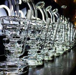 Plates-formes de verre hitman en Ligne-huile New Hitman verre Sundae pile verre truque conduites d'eau en verre épais et robuste avec 14.5mm joint mâle