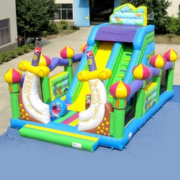 Wholesale AOQI inflatable fun city inflatable Aladdin slide fun city inflatable fun land for kids for sale made in China
