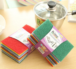 Wholesale New Color scouring pad dish cloth Cleaning Cloths to wipe cloth dish cloth rag Household Cleaning Tools