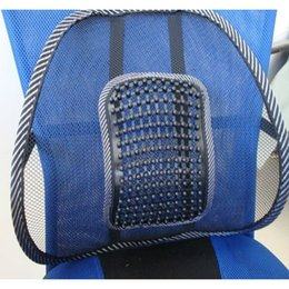 Wholesale High quality new Car Seat Office Chair covers Back brace Lumbar pillow Support Massage Mesh Ventilate Cushion Support Pad Mat order lt no tr