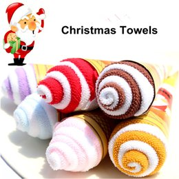 6pcs lot Christmas Gifts Ice Cream Towel Cake Towel Birthday Wedding Gifts Free Shipping Party Decoration