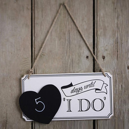 Wholesale Factory direct Personalized Names Wood Board Wedding Sign I Do blackboard with heart shaped listing Directional Reception Arrow