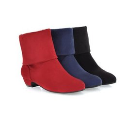 Wholesale High Quality Autumn Ankle Boots Women Shoes Flat Heel Casual Women s Fashion Boots Lady Suede Martin Boot WI47